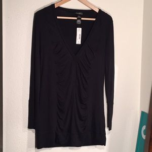 NWT Bisou Bisou Ruched Rayon Tunic/Dress
